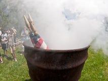 De Ceremonie van vlagburining Stock Fotografie