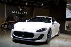 De ceremoniemeester Stradale van GT van Maserati in de Show van de Motor van Parijs 2010 stock afbeeldingen