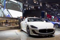 De ceremoniemeester Stradale van GT van Maserati in de Show van de Motor van Parijs 2010 stock foto