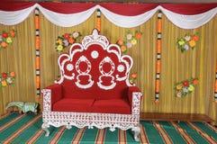 De ceremoniestoel van het huwelijk Stock Foto's