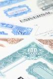 De certificaten van de voorraad Royalty-vrije Stock Foto