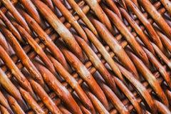 De cesta de Weave do teste padrão fim acima fotos de stock royalty free