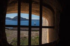 ` De Château d si - ventana de la prisión Foto de archivo
