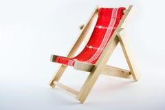 De chaise-longue van het stuk speelgoed Stock Afbeeldingen