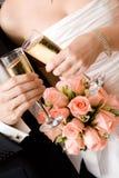 De champagne van het huwelijk Stock Afbeeldingen