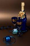 De champagne van het nieuwjaar Stock Fotografie