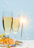 De champagne van het nieuwjaar Stock Foto's