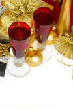 2012 de champagne van Kerstmis Stock Foto's
