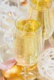 2012 de champagne van Kerstmis Stock Foto