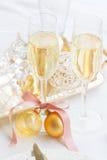 2012 de champagne van Kerstmis Stock Fotografie
