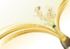 de champagne viert achtergrond Stock Afbeeldingen