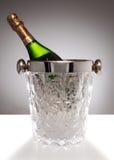 De champagneemmer van het kristal royalty-vrije stock foto