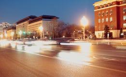 De changan weg van Peking bij nacht Royalty-vrije Stock Afbeelding