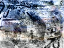 De chaos van Grunge - digitale illustratie Stock Afbeeldingen