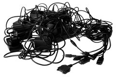 De chaos van kabels Royalty-vrije Stock Afbeeldingen