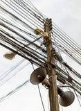 De chaos van kabels en draden Stock Foto's