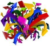 De chaos van pijlen. stock illustratie