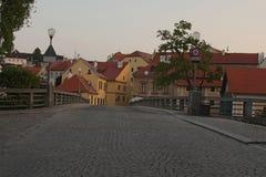De charmante oude stad van Cesky Krumlov, Tsjechische Republiek Het is een Plaats van de Erfenis van de Wereld van Unesco Royalty-vrije Stock Foto
