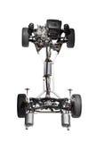 De chassis van de auto met motor. Stock Foto