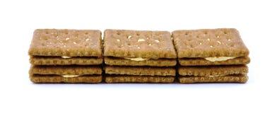 De cheddarcrackers van de tarwe Royalty-vrije Stock Afbeelding