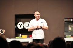 De Chef-kok Matte Moran van de beroemdheid Stock Foto's