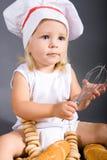 De chef-kok van de baby Stock Afbeeldingen