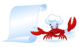 De chef-kok van de krab Stock Foto's