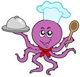 De chef-kok van de octopus Stock Foto's