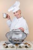 De Chef-kok van de pastei Stock Fotografie