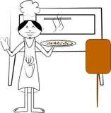 De chef-kok van de pizza Stock Afbeeldingen