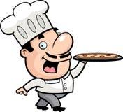 De Chef-kok van de pizza stock illustratie
