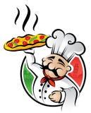 De Chef-kok van de pizza royalty-vrije illustratie