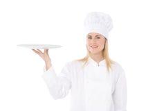 De chef-kok van de vrouw Royalty-vrije Stock Fotografie
