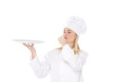 De chef-kok van de vrouw Stock Foto