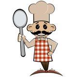De chef-kok van het beeldverhaal Stock Fotografie