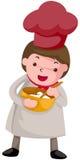 De chef-kok van het beeldverhaal Stock Foto