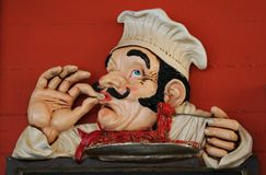 De chef-kok van het beeldverhaal Royalty-vrije Stock Afbeeldingen