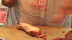 De chef-kok van het de stadsvoedsel van China stock videobeelden
