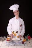 De Chef-kok van het dessert Stock Afbeelding