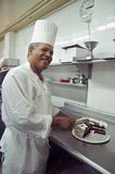 De Chef-kok van het gebakje Stock Afbeeldingen