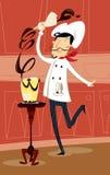 De chef-kok van het gebakje Stock Fotografie
