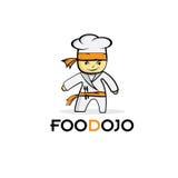de chef-kok van het karatevoedsel Stock Fotografie