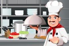 De chef-kok van het restaurant Stock Foto's