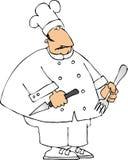 De chef-kok van het werktuig royalty-vrije illustratie
