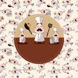 De chef-kokkaart van het beeldverhaal Royalty-vrije Stock Fotografie