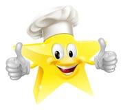 De chef-kokmascotte van de ster stock illustratie