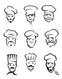 De chef-koks van het restaurant Royalty-vrije Stock Afbeeldingen