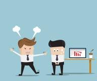 De chef- Vectorillustratie van Angry Employee Cartoon Royalty-vrije Stock Afbeeldingen