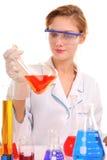 De chemicus van het meisje Stock Foto's