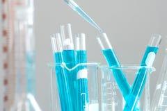 De chemie van het wetenschapperonderzoek bij wetenschapslaboratorium royalty-vrije stock foto's